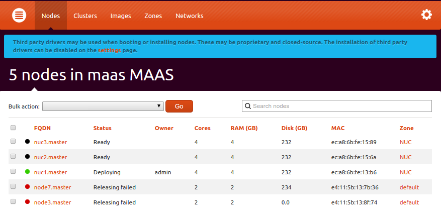 New MAAS features in 1.7.0